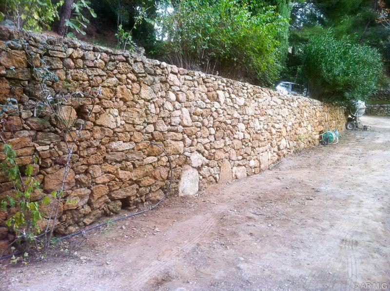 Pierre pour mur pierre seche